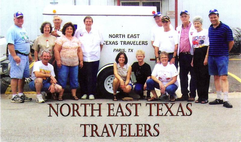 Some of our members standing next to our trailer in 2008.
